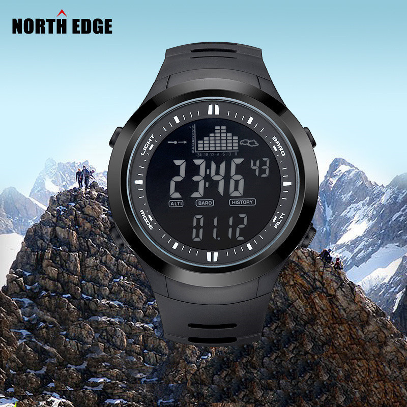 Digital-watch Men watches outdoor digital watch clock fishing altimeter barometer thermometer altitude climbing hiking hours northedge men digital watches outdoor watch clock fishing weather altimeter barometer thermometer altitude climbing hiking hours
