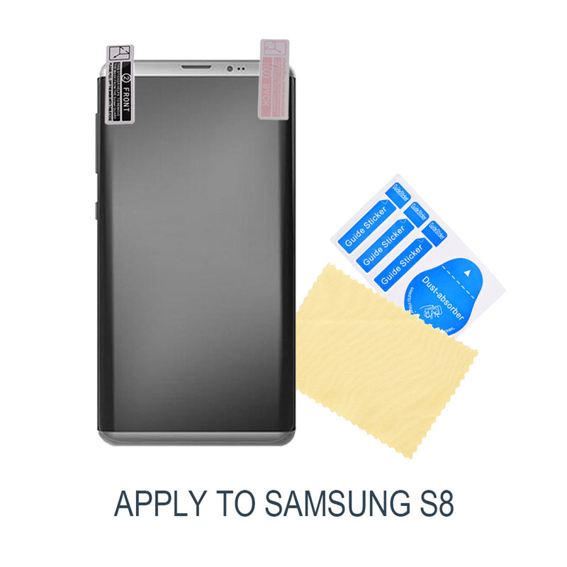 3D Perfect Screen Coverage Transparent Film for Samsung Galaxy S8 Curved 5.8 Inch Protective Soft Film Protector for Samsung S8