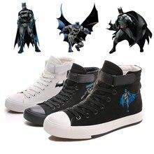 Printing The Dark Knight Batman Cool Cartoon Canvas Shoes High-top Flat Casual Mens Fashion Students shoes