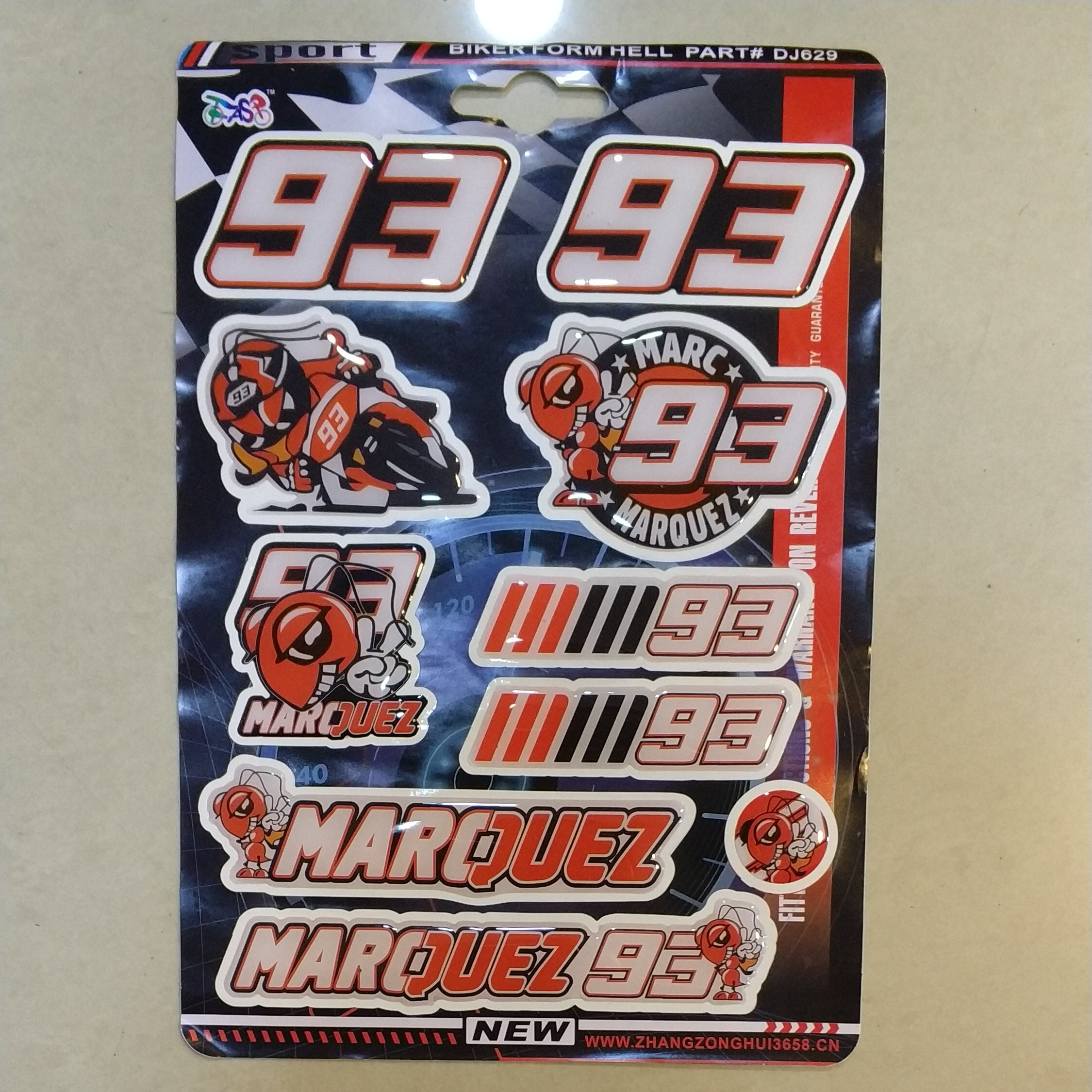 New Resin Gel Motorcycle Applique #93 MARQUEZ Fan Sticker Super Cool Personal Decal edith marquez feria juarez