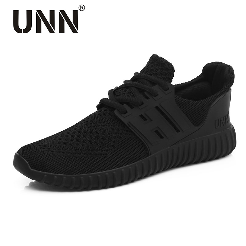 UNN New Red Running Shoes For Men Breathable Original Sneakers Black Cushioning Mens Trainers Net Women Run Sport Shoes 2017 new style running shoes man cushioning breathable cool textile sneakers red black men light sports shoes