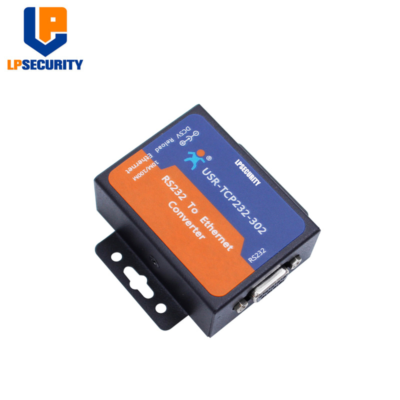 LPSECURITY Bidirectional Transmission RS232 Serial To Ethernet Converter, USR-TCP232-302 With DHCP DNS