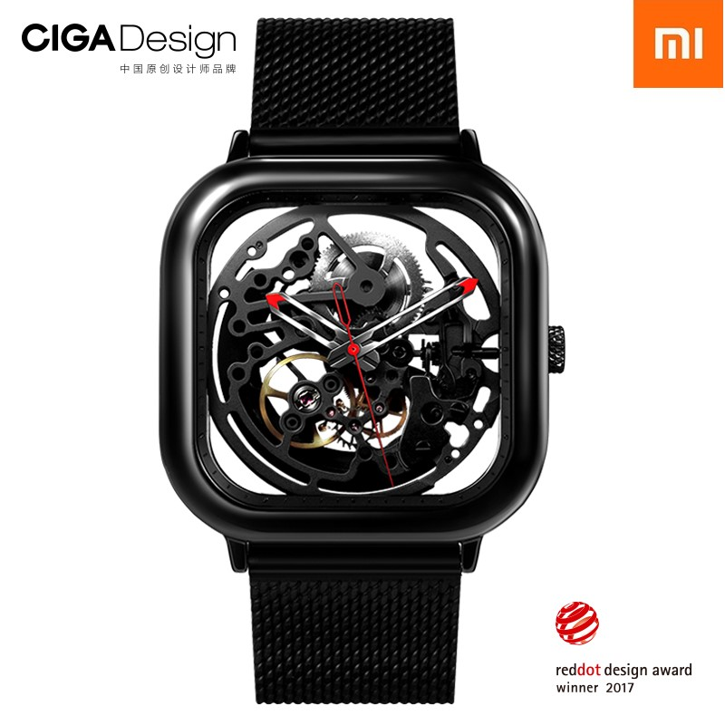 Xiaomi Watch CIGA Hollowed-out Design Anti-Seismic Mechanical Watch Openwork Carving Wristwatch With Metal Strap seasonal 3152323 hollowed out pocket watch