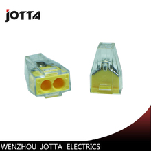 цена на 100pcs PCT-102 Push wire wiring connector For Junction box 2 pin conductor terminal block