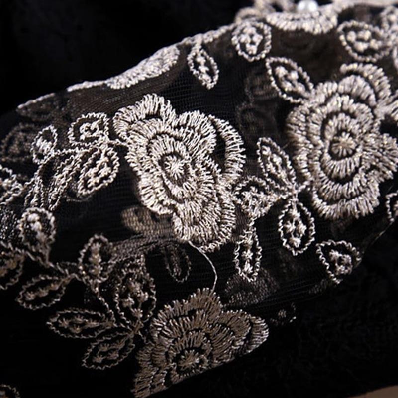 Weinlese-Spitze-reizvolle lange transparente Ineinander - Damenbekleidung - Foto 4
