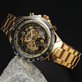 WINNER Top Brand Luxury Gold Watch Men Male Casual Watches Full Steel Automatic Mechanical Clock Sport Military Clocks relogio