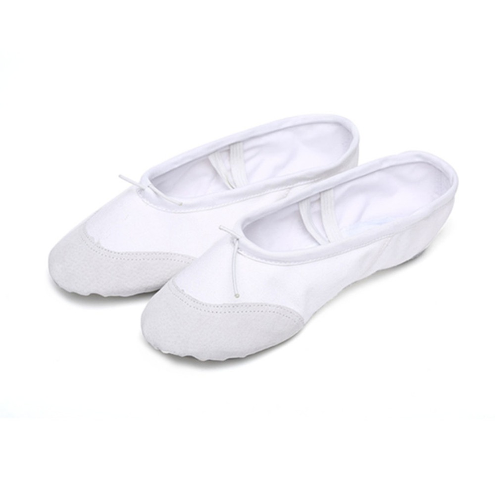 According The CM To Buy,White Ballet Shoes For Girls Children Woman Yoga Slippers Gym Indoor Exercising Shoes Free Shipping