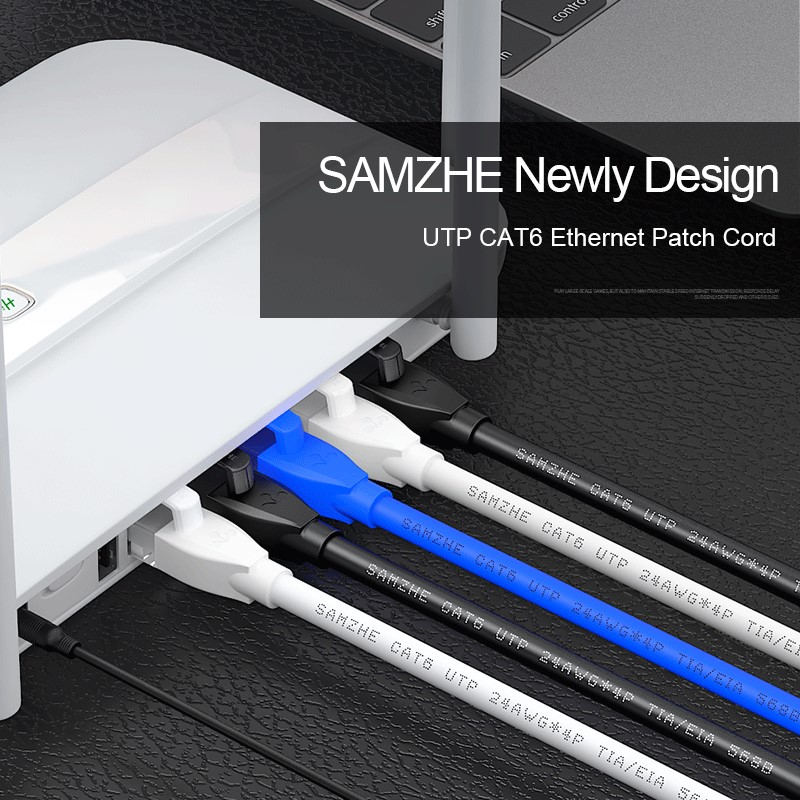 Image 4 - SAMZHE Cat6 Ethernet Patch Cable   RJ45 Computer,PS2,PS3,XBox Networking LAN Cords 0.5/1/1.5/2/3/5/8/10/12/15/20/25/30/40/50/80m