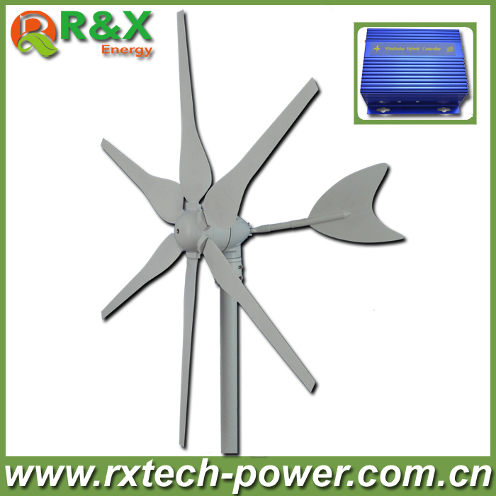12V/24V wind generator 300w horizontal axis wind turbine generator, start up speed 2m/s wind mill +wind/solar hybrid controller. 200w 12v or 24v s series vertical axis wind turbine generator start up with 13m s 10 baldes permanent magnet generator