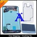 Бесплатная Доставка + Задняя крышка 100% тестирование в Исходном Для Samsung Galaxy S5 G900 G900F ЖК Планшета Ассамблеи + кнопка Наклейка