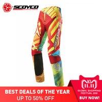 SCOYCO профессиональный Мотокросс брюки шоссейные брюки мотокроссу дышащая мотоциклетные штаны Pantalon CE защиты