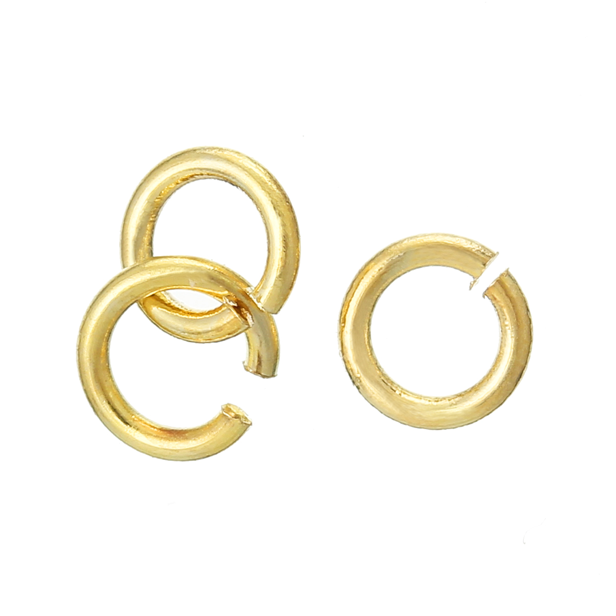 DoreenBeads Copper Opened Jump Rings Round Gold Color 4mm( 1/8