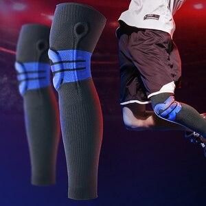 Image 4 - Moeite waard Elastische Silicon Padded Basketbal Kniebeschermers Ondersteuning Patella Brace Kneepad voor Fitness Gear Volleybal Sport Protector