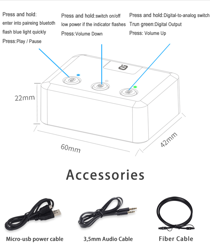 Ayin MR235 Bluetooth 5.0 Receiver Audio Adapter