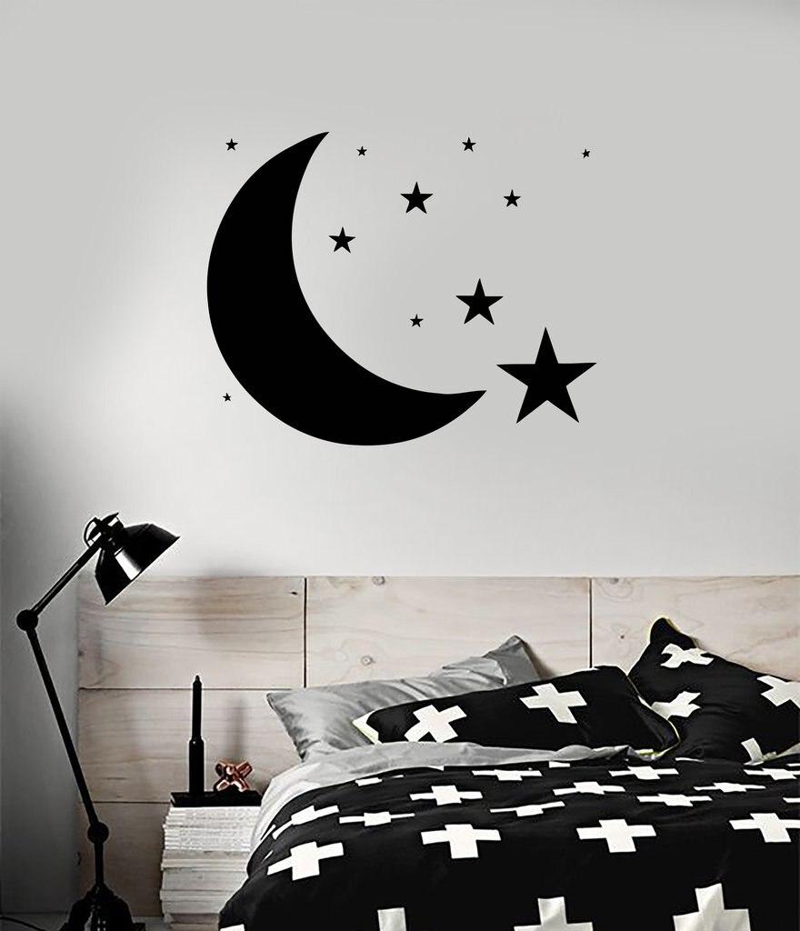 Schlafzimmer Mond Sterne Sky Wandtattoo Home Design Fur Baby