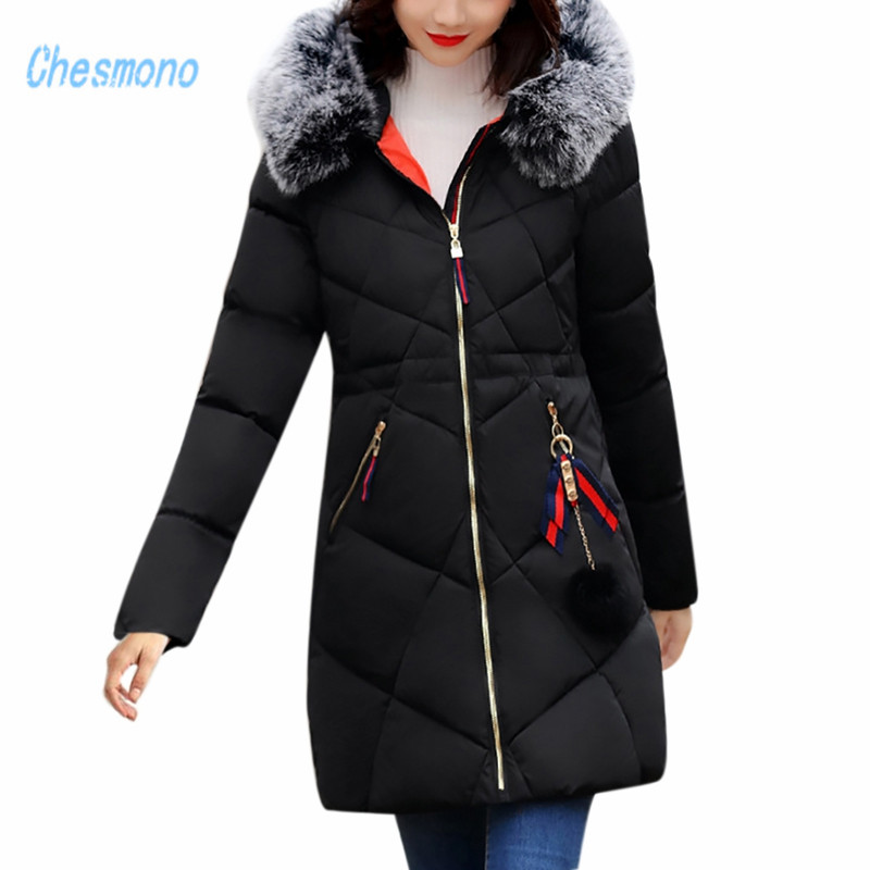 2017 New Army Green Winter Women's Jacket Coat Black Thick Warm Women Parkas Coat High-quality Parkas Cotton Hooded Outerwear new winter autumn jacket women 2017 space cotton coat thick parkas red black blue khaki warm clothes hooded high quality coats