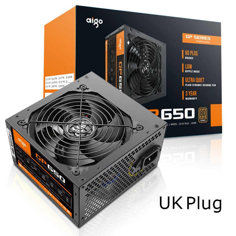 愛国者 650 ワットコンピュータの電源 ATX ミニ psu itx 80 80 plus ブロンズ英国プラグアクティブフレックス ITX PC 電源 12 5v 電源