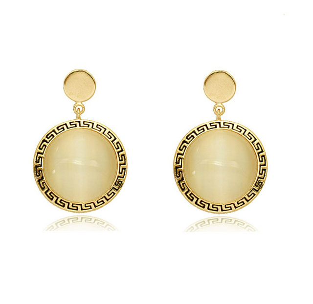 Tiger Totem Free Shipping Woman Accessories New Arrival Famous Brand Name Wholes Design Round Drop Earrings