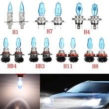 Горячая 2 Pc H1/H3/H4/H7/H8/H11/HB3/HB4 6000 K 12 V 100 W Белый вождение автомобиля мощный Ксенон лампа свет фара галогенная автомобилей головной свет