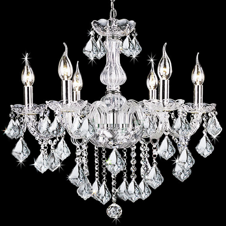 Multiple Chandelier 6 candle crystal bedroom living room dining room shipping a European LAMPS art ZX169