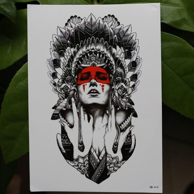 Anciennes femmes garder les larmes 21x15cm nouveau corps Art tatouage temporaire exotique Sexy Flash henné tatouages autocollant indien primitif taty