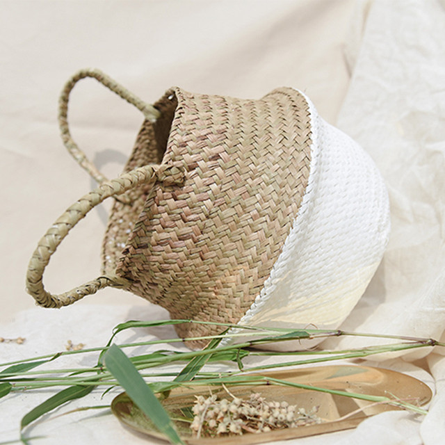 Storage Baskets vacuum bags for Wicker/straw Basket  Flower Pot Folding Basket Dirty Storage Home Drop shipping Aug10