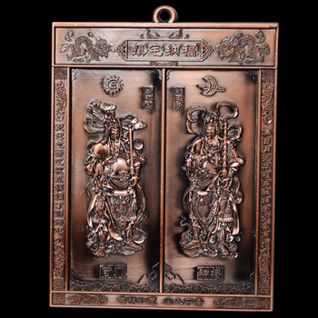 Feng Shui Door god Ornaments High Quality Home Decoration Accessorie Chinese Brass Copper Craft Furnishing Articles Business