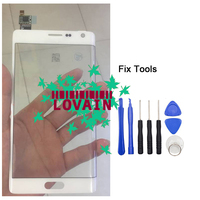 LOVAIN 1PCS Original White Tested For Samsung Galaxy Note4 Note 4 Edge N915 N915F Digitizer Touch