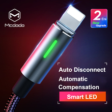 Mcdodo Lightning to USB Cable for iPhone X Xs Max 8 Plus Auto Disconnect Fast Charging Cord for iPhone 7 6s iPad Sync Data Cable кабель a data lightning usb для iphone ipad ipod 1м золотистый amfial 100cmk cgd