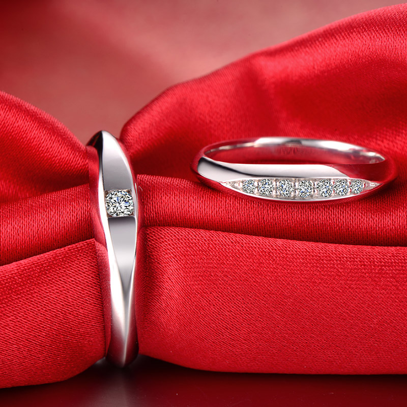 18ct Gold Diamond Couple Set Rings Wedding Bands Engagement Rings for Men Women