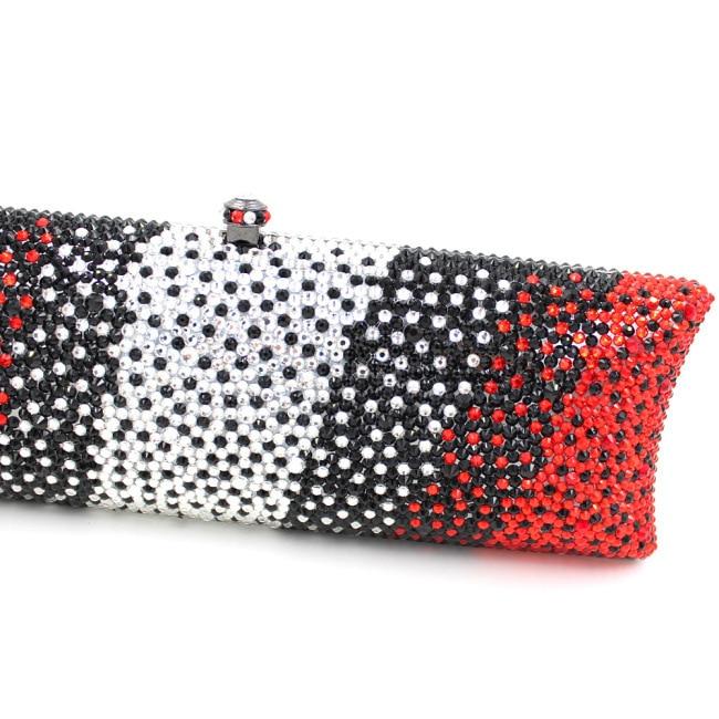 Strass Smyzh De Rouge Multi En Bandoulière Femmes Sacs Soirée e0085 Embrayages Délicat Lady Bags Métal Tôlé Minaudière C655gx