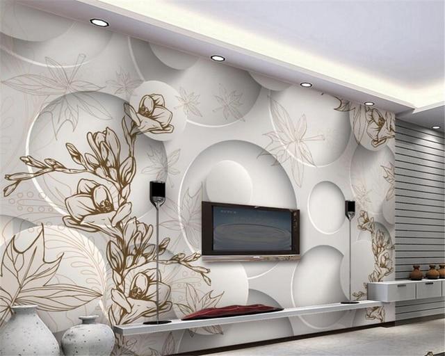 Living Room 3d Wallpaper aliexpress : buy beibehang 3d wallpaper modern line drawing