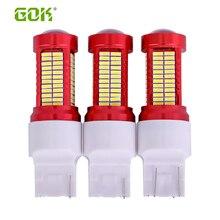 цена на 10pcs T20 7440 7443 W21W Led 20W Canbus Bulb 7440 106 SMD 4014 LED Car External Reverse Backup Light Turn Signal Lamp Tail Light