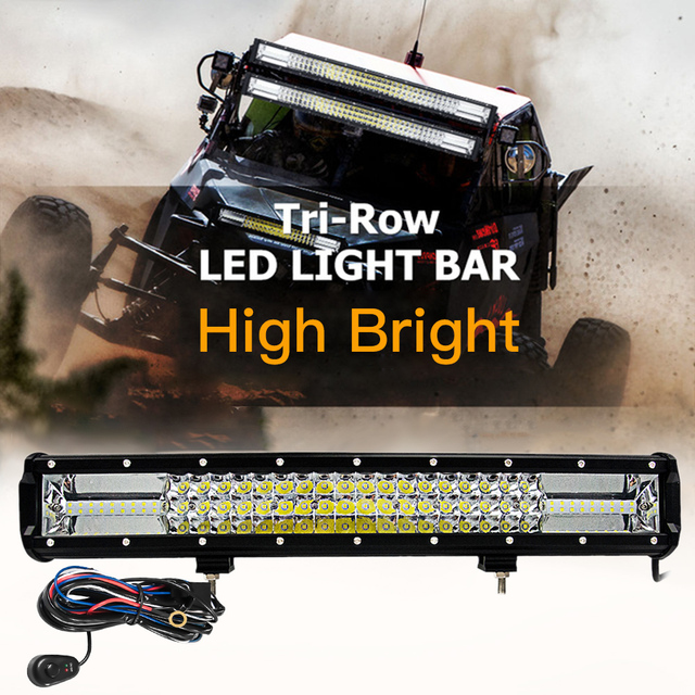 Aliexpress buy 1pc tri row led bar light flood spot combo off 1pc tri row led bar light flood spot combo off road driving lamp led light aloadofball Image collections