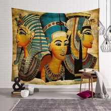 CAMMITEVER Religious Egyptian Pharaohs People Tapestry Eqypt Queen Wall Art Hanging Bedspread Mysterious Home Decor