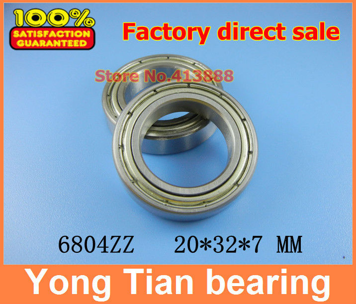10pcs free shipping thin wall deep groove ball bearing 6804ZZ 20*32*7 mm gcr15 6326 zz or 6326 2rs 130x280x58mm high precision deep groove ball bearings abec 1 p0