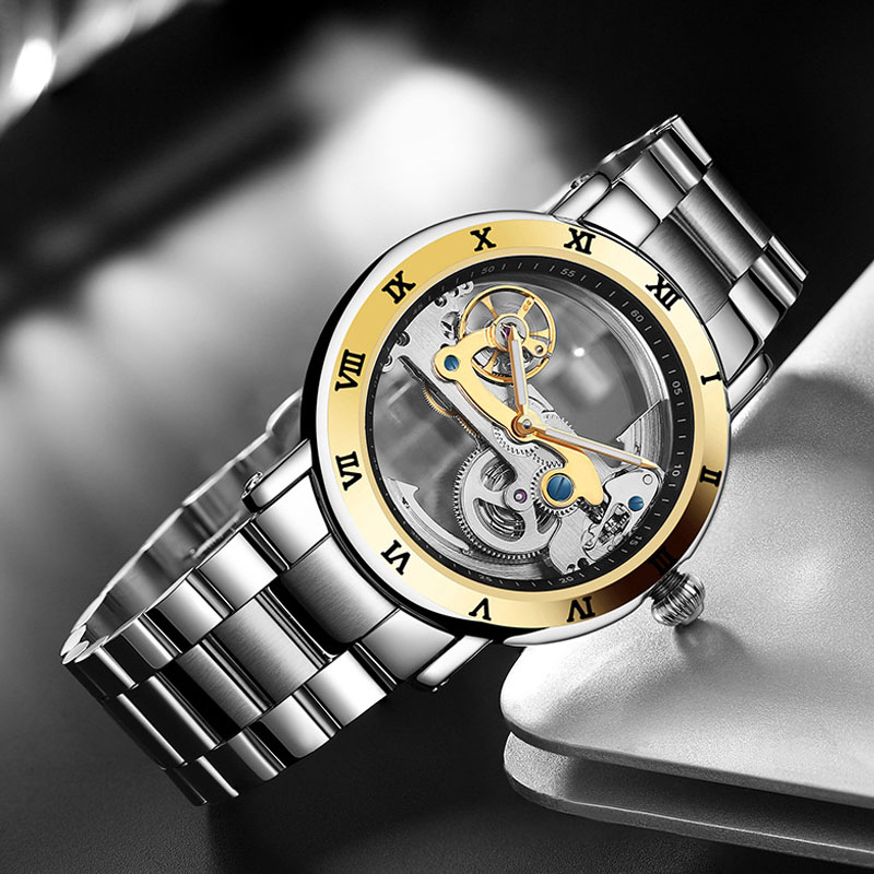Relogio Masculino New Hollow Automatic Mechanical Watches Men Sports Watch Steel Waterproof Watch Top Brand Luxury Male Clock outad automatic mechanical watches classic hollow steel watch band luxury high quality fashion men male relogio masculino 2017
