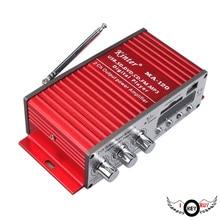1PC Motorcycle 12V Card Amplifier Furniture Background Music Amplifier Car Digital USB Reader Power Amplifier Stereo Aluminum