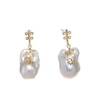Super rétro Baroque perle 10-11mm naturel perle boucles d'oreilles long 4 CM éternel mariage femmes cadeau réel importation perle boucle d'oreille