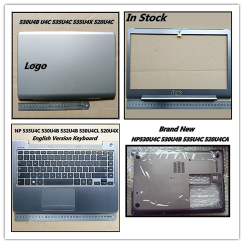 Bottom Case Base Cover Lower Cover LCD Back Cover Palmrest Upper Cover For Samsung NP530U4B NP530U4C NP532U4C NP535U4C NP535U4X