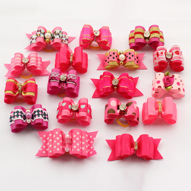 60 Pcs!! Armi store Handmade Dog Bow Bows For Dogs 6011027 Ps
