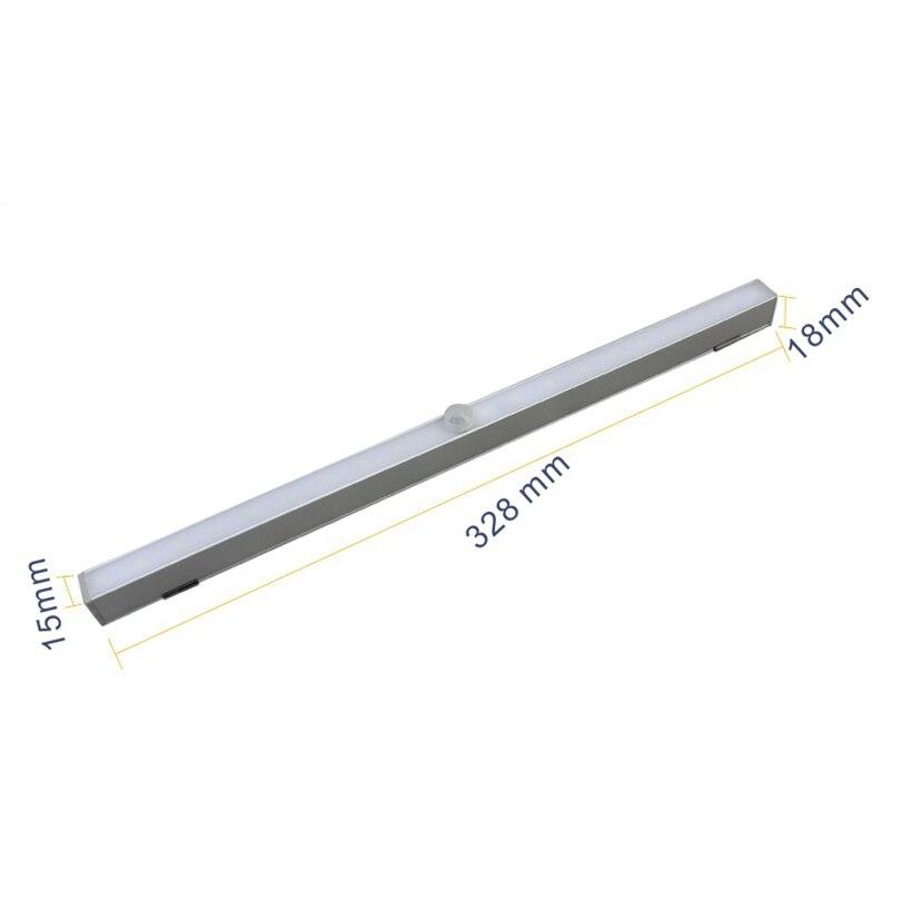 Светодиодный свет гардероб Беспроводной 20 светодиодный движения Сенсор под кабинет огни Батарея работает шкаф ночник светодиодный свет ба...