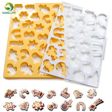 Christmas Cookie Cutter Snowflake Biscuit Mold Cuts Out Up To 28 Pieces At Once Snowman Fondant Chocolate Mould Bakeware
