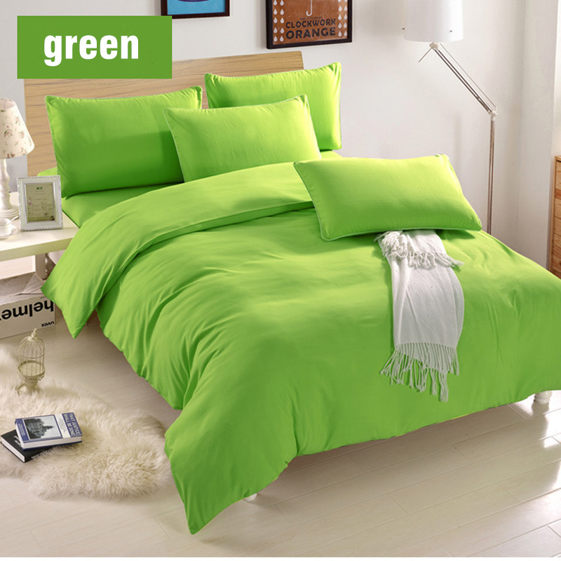 Buy Hot Solid Green Color Duvet Cover Set