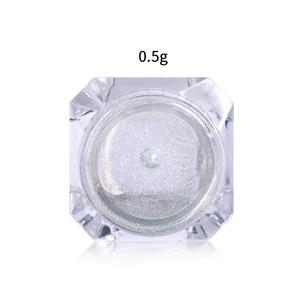 Image 5 - 0.5g glitter per unghie Laser olografici arcobaleno Nail Art polvere punta per unghie cromo polvere decorazioni per Nail Art