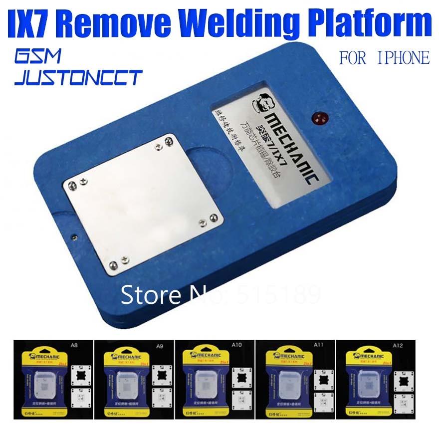IX7  MECHANIC CPU NAND Chip planting heating platform for IPHONE BGA A8 A9 A10 A11 A12 Positioning steel net RepairIX7  MECHANIC CPU NAND Chip planting heating platform for IPHONE BGA A8 A9 A10 A11 A12 Positioning steel net Repair