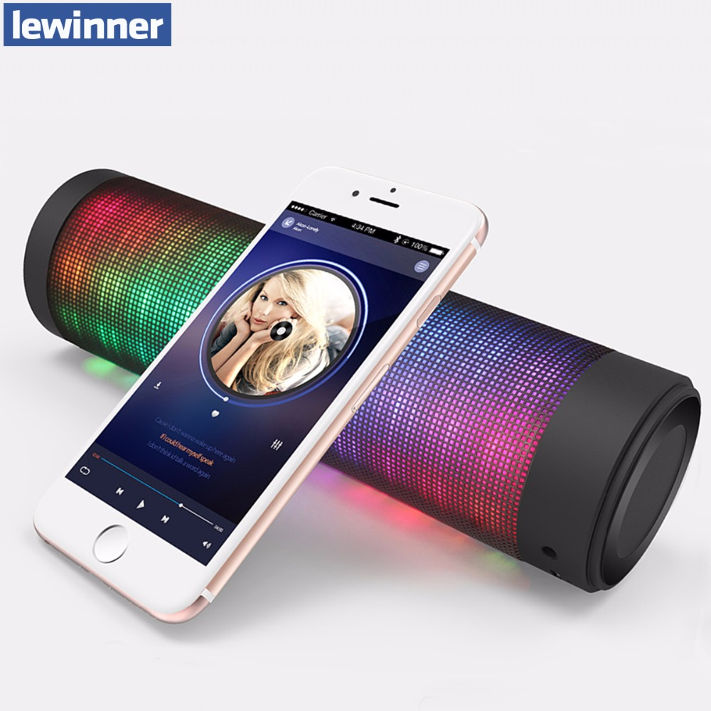 Portable Bluetooth Speaker Colorful LED Lights Wireless Speakers For IOS Android Computer Surround Stereo Sound Subwoofer  360 degree dc 5v usb surround stereo bluetooth speaker portable rechargeable wireless led lights sound speaker for smartphone