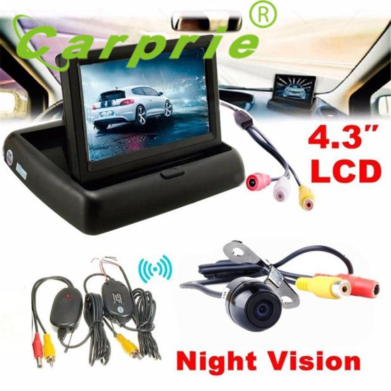 Tiptop New 4.3 Car Rear View Monitor Wireless Car Backup Camera Parking System Kit_KXL0706