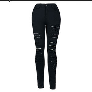 Ripped Jeans Destroyed Women American Sexy High-Waist Fashion Cool Call European And
