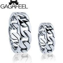 GAGAFEEL Caliente 100% Real Pura Plata Esterlina 925 Anillo de Plata Tailandés anillo del amante del envío libre punky del estilo Hombres/Mujeres anillo LHYR14
